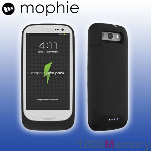 new arrival 9d6d3 d11d8 Details about GENUINE Mophie Juice Pack Battery Case for Samsung Galaxy S  III 3 S3 Matte Black