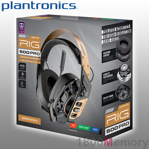 Details about Plantronics RIG 500 Pro Gold Gaming Headset Over Ear Wired 3.5mm for PC Xbox PS4
