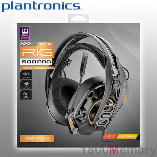Details about Plantronics RIG 500 Pro HA Gaming Headset Over Ear Wired 3.5mm for PC Universal