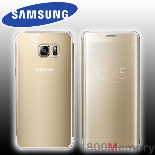 new arrival 70a6c 8c52f Details about GENUINE Samsung Galaxy S6 Edge+ SM-G928 Clear View Flip Cover  Case Gold