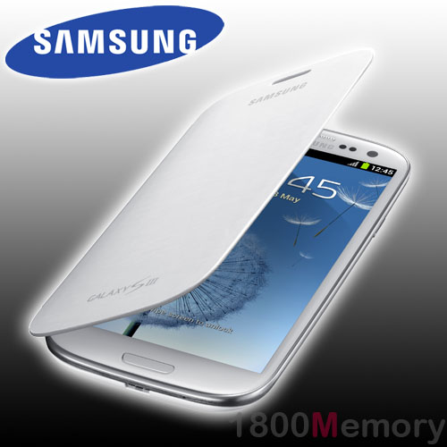Genuine Samsung Galaxy S3 Flip Cover Case Gt I9300 I9305 I9306 I9307 I9308 White Ebay