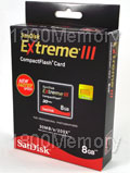 SanDisk 8GB Extreme III Compact Flash CF Card (200X) R2