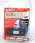 SanDisk 4GB Cruzer Micro USB Flash Drive