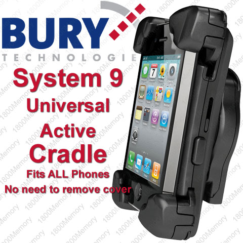 bury s9 system 9 active cradle universal 3xl car dock. Black Bedroom Furniture Sets. Home Design Ideas