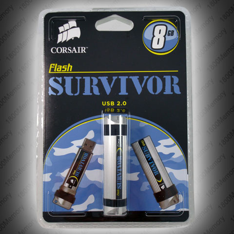 CORSAIR Flash Survivor 8GB Rugged USB Thumb Drive NEW