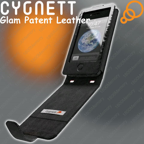 Genuine Cygnett Glam Patent Leather Flip Case for iPhone 4 4S 3G 3GS