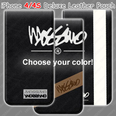 GENUINE-Mossimo-Deluxe-Leather-Pouch-Case-for-Apple-iPhone-4-S-4S-Choose-Colors