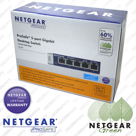 Netgear Prosafe Gs105 on Netgear Prosafe 5 Port Gigabit Ethernet Switch Gs105   Ebay