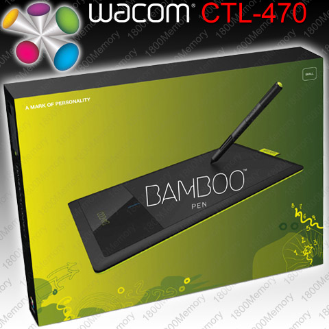 Wacom Bamboo Pen Small Tablet Ctl 470 3g 3rd Gen With Bundled