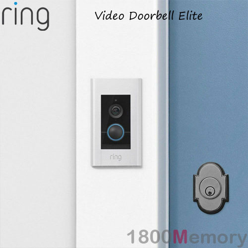 Details about Ring Video Doorbell Elite 1080p Wireless Security Camera 2  Way Audio Custom Zone